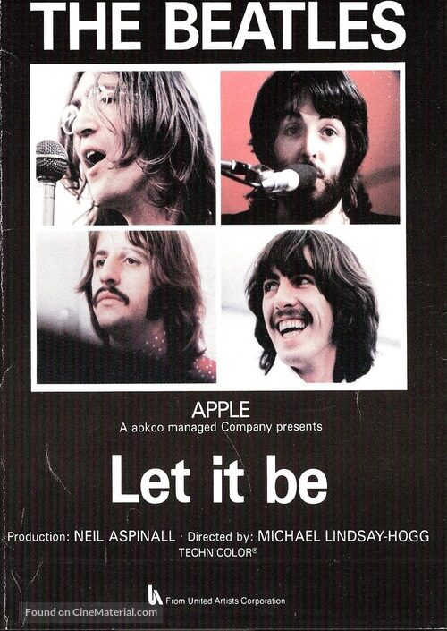 Let It Be - Dutch VHS movie cover