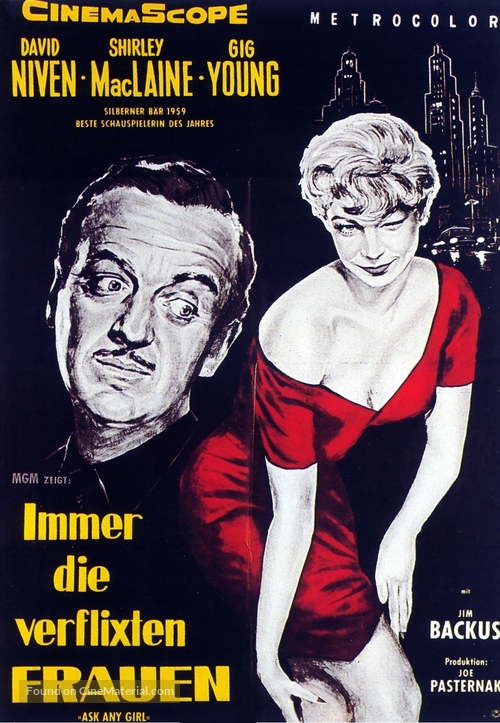Ask Any Girl - German Movie Poster
