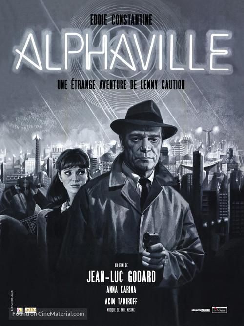 Alphaville, une étrange aventure de Lemmy Caution - French Movie Poster