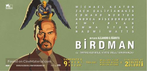 Birdman or (The Unexpected Virtue of Ignorance) - Italian Movie Poster
