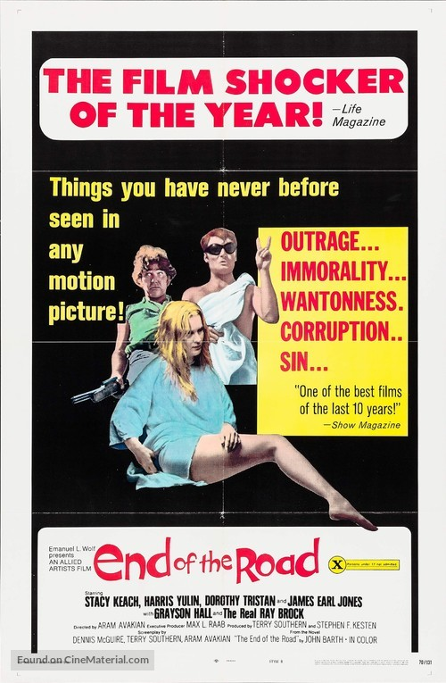 End of the Road - Movie Poster