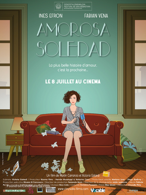 Amorosa soledad - French Movie Poster
