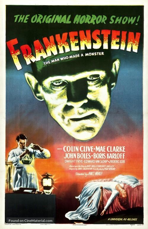 Frankenstein - Re-release movie poster