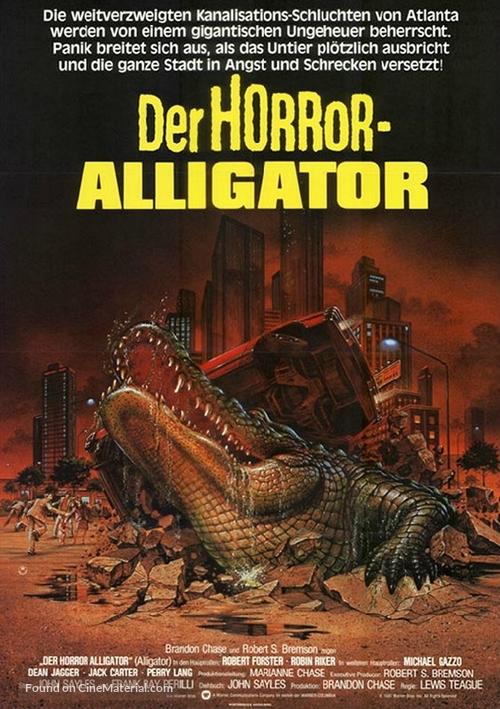 Alligator - German Movie Poster