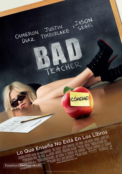 Bad Teacher - Spanish Movie Poster