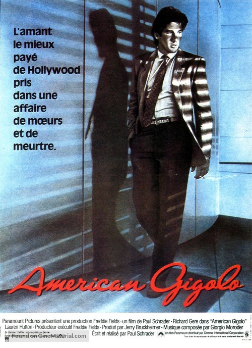 American Gigolo - French Movie Poster
