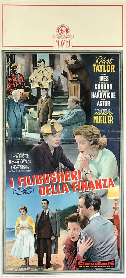 The Power and the Prize - Italian Movie Poster