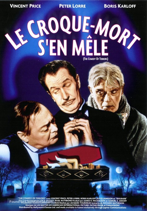 The Comedy of Terrors - French Movie Poster