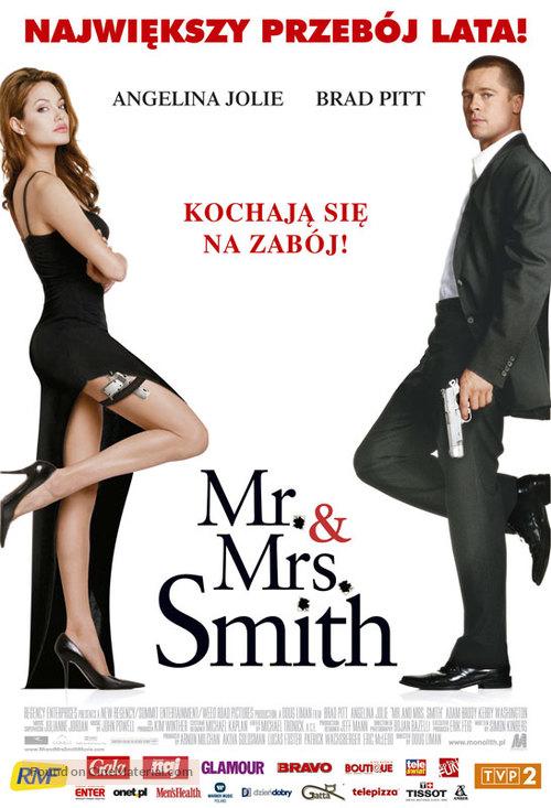 Mr. & Mrs. Smith - Polish Movie Poster