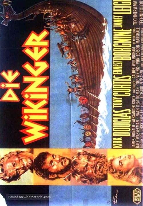 The Vikings - German Movie Poster