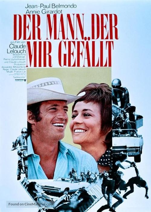 Un homme qui me plaît - German Movie Poster