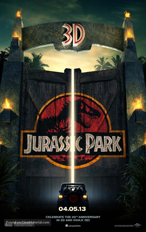 Jurassic Park - Re-release movie poster