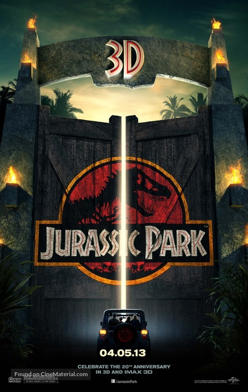 Jurassic Park - Re-release poster
