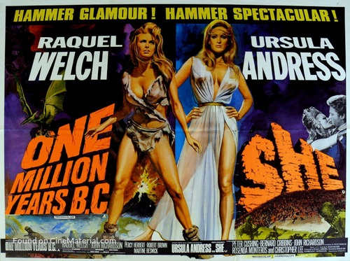 One Million Years B.C. - British Movie Poster