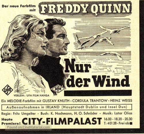 Nur der Wind - German poster