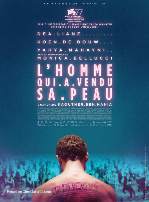 The Man Who Sold His Skin - French Movie Poster