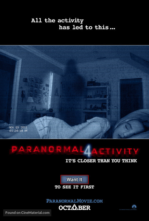 Paranormal Activity 4 - Movie Poster