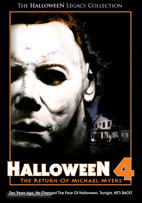 Halloween 4: The Return of Michael Myers - DVD movie cover
