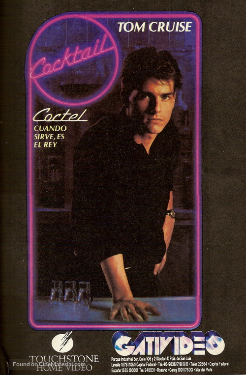 Cocktail - Argentinian VHS movie cover