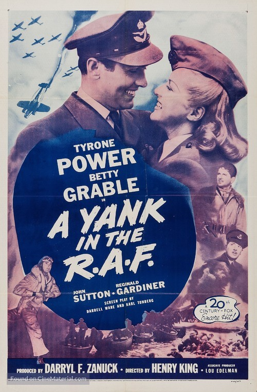 A Yank in the R.A.F. - Re-release movie poster