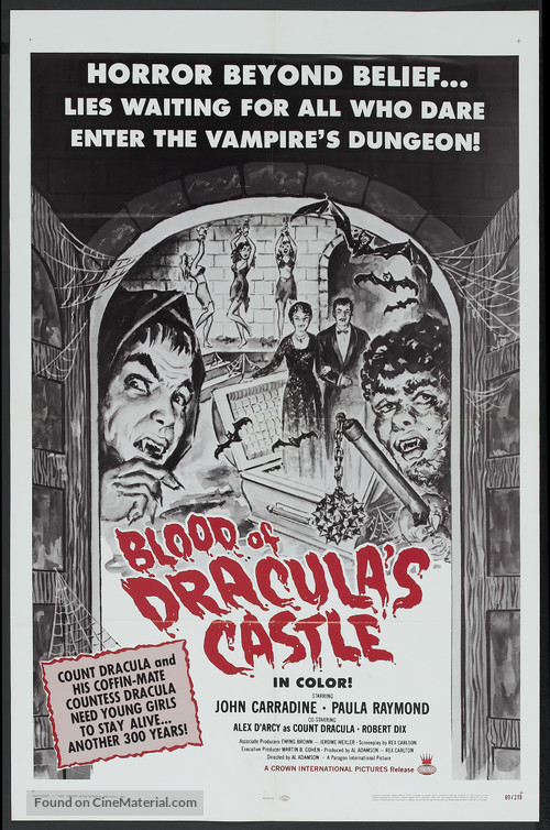 Blood of Dracula's Castle - Movie Poster