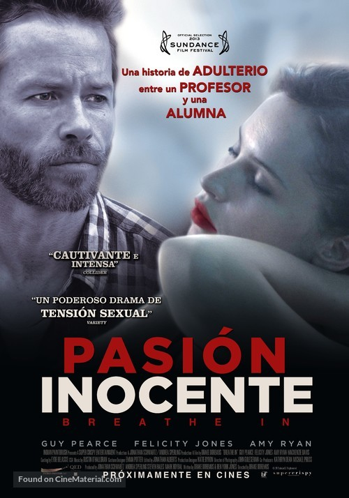 Breathe In - Peruvian Movie Poster
