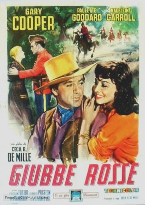North West Mounted Police Italian movie poster