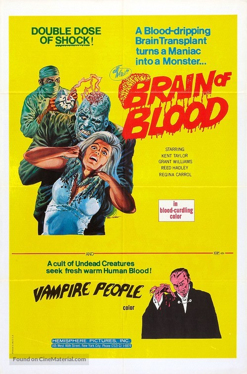 Brain of Blood - Combo movie poster