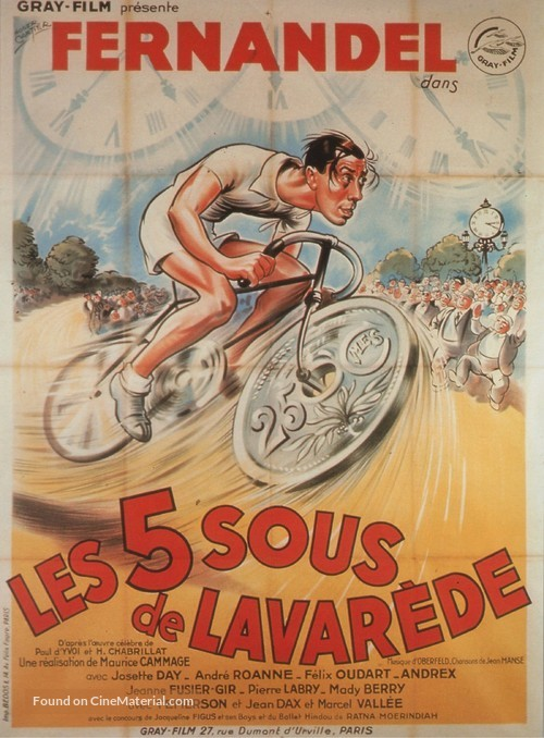 Cinq sous de Lavaréde, Les - French Movie Poster