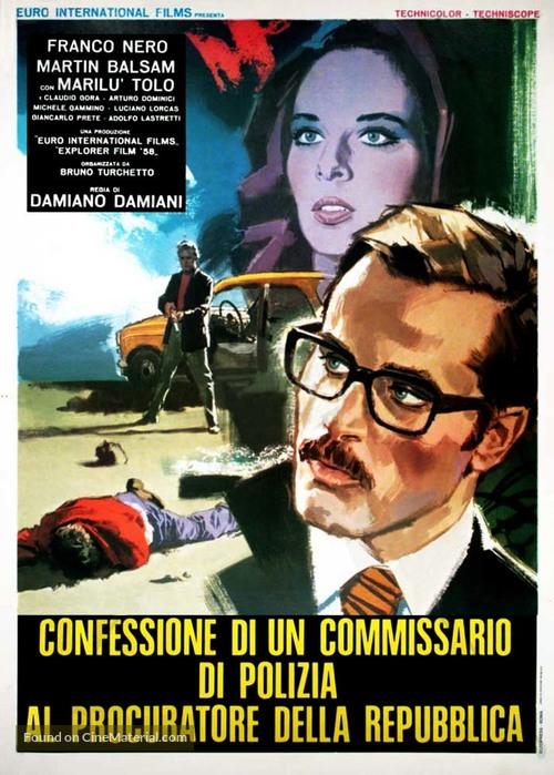Confessione di un commissario di polizia al procuratore della repubblica - Italian Movie Poster