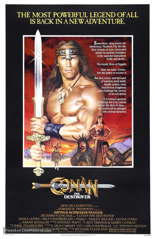 Conan The Destroyer - Movie Poster