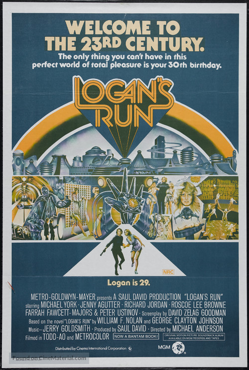 Logan's Run - Australian Movie Poster