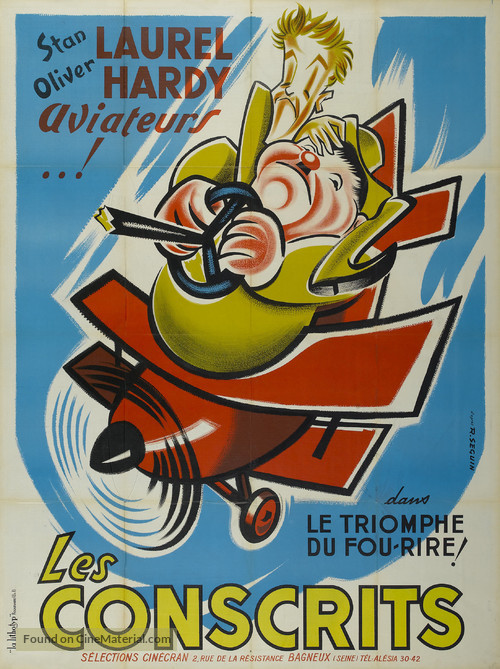 The Flying Deuces - French Movie Poster