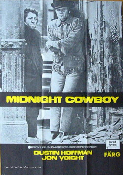 Midnight Cowboy - Swedish Movie Poster