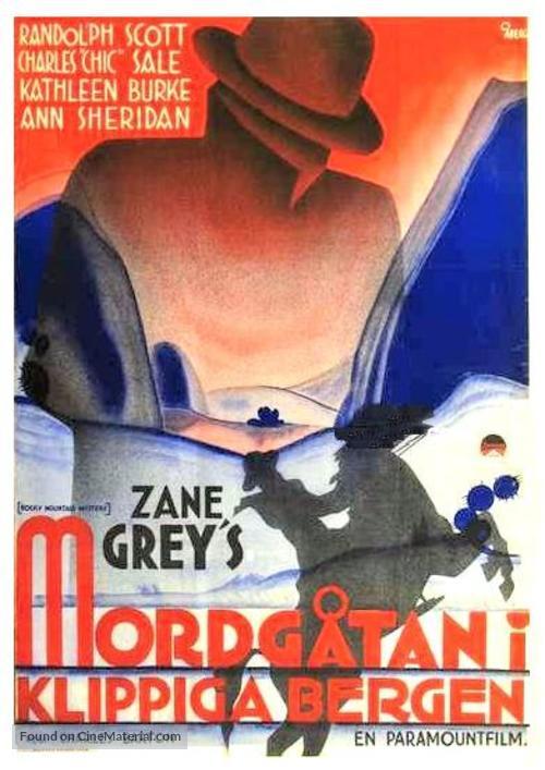 Rocky Mountain Mystery - Swedish Movie Poster