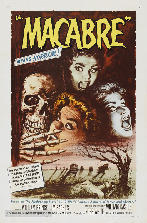Macabre - Theatrical movie poster