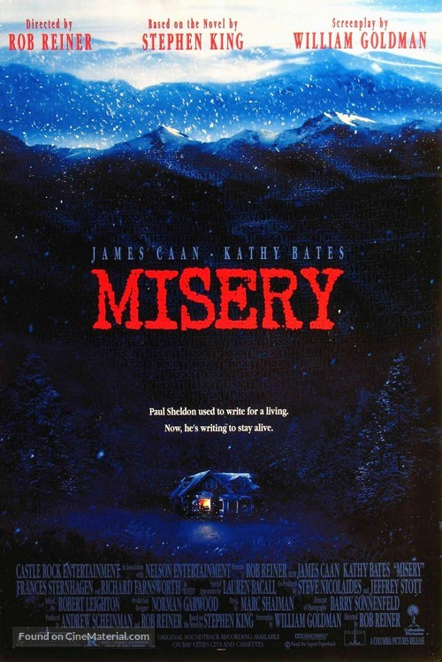 Misery - Movie Poster