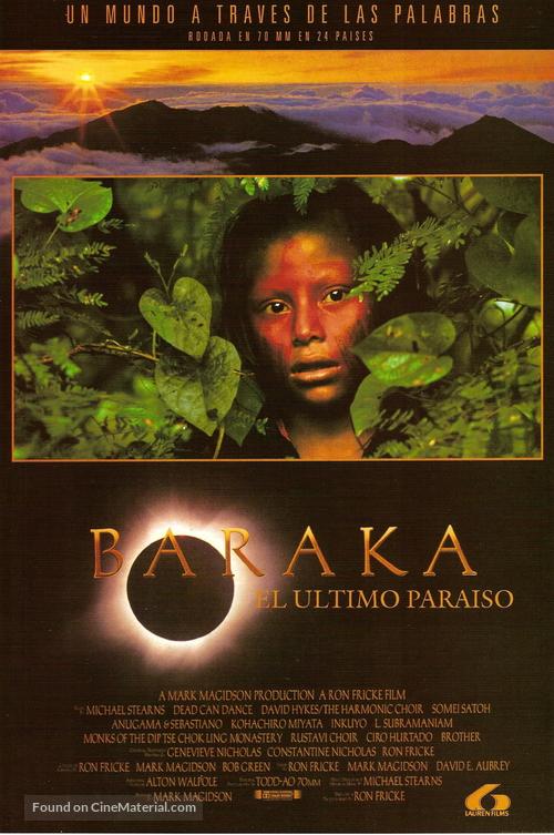 Baraka - Spanish Movie Poster