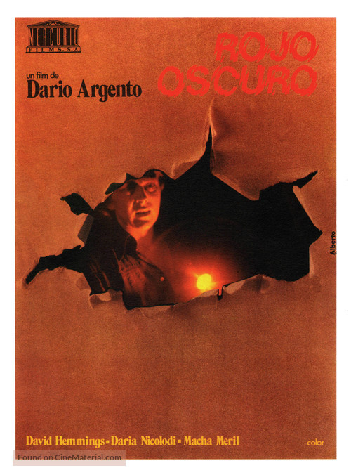 Profondo rosso - Spanish Movie Poster