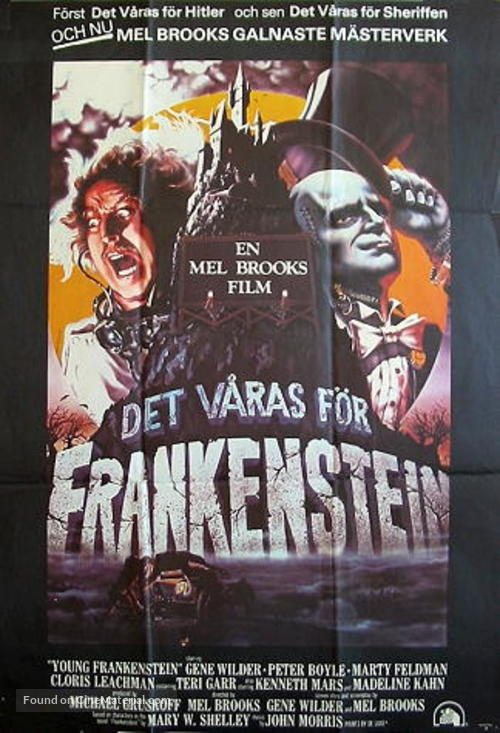 Young Frankenstein - Swedish Movie Poster
