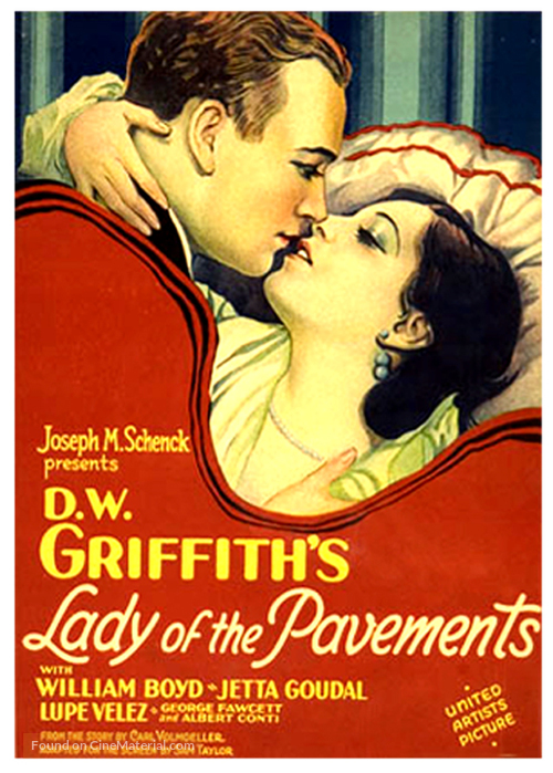 Lady of the Pavements - Movie Poster