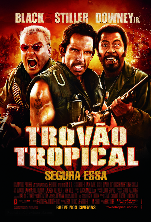 Tropic Thunder - Brazilian Movie Poster
