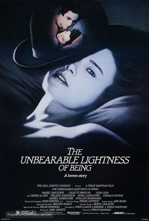 The Unbearable Lightness of Being - Movie Poster