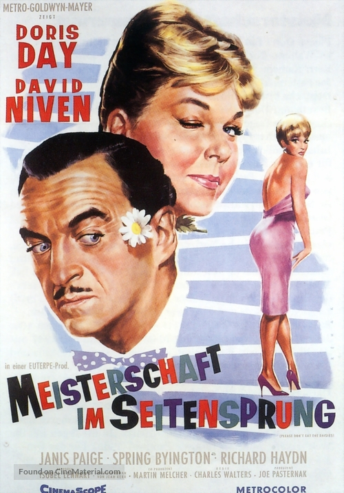 Please Don T Eat The Daisies 1960 German Movie Poster