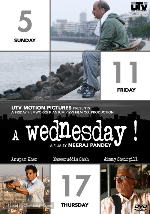 A Wednesday - Indian DVD movie cover