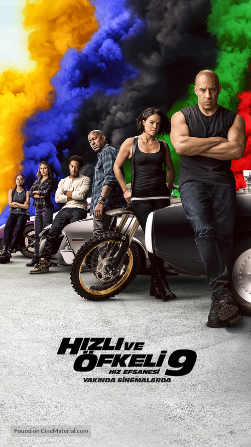 Fast & Furious 9 (2021) Turkish movie poster