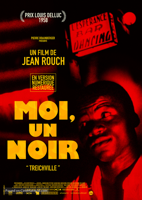 Moi un noir (1958) French re-release movie poster