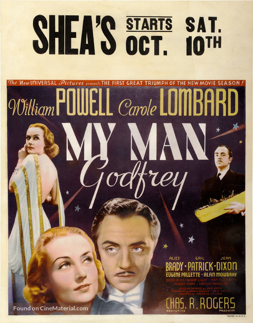 My Man Godfrey - Theatrical poster