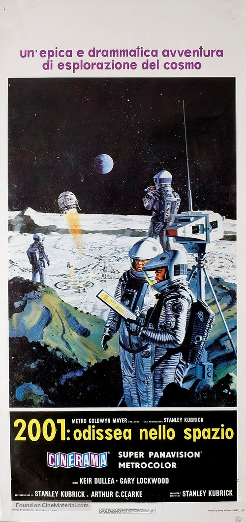2001: A Space Odyssey - Italian Movie Poster