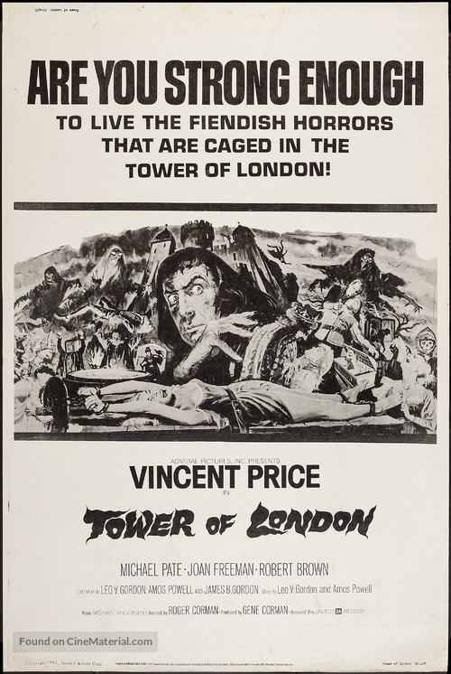 Tower of London - Movie Poster
